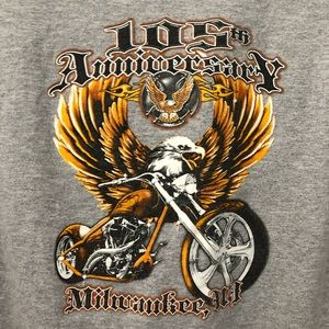 Shirts - 105TH ANNIVERSARY MILWAUKEE, WI Motorcycle Eagle